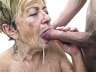 hairy 90 years old granny banged wits her toyboy