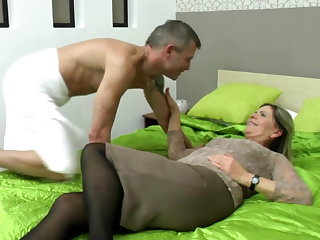 X-rated grandma suck and fuck serendipitous boy