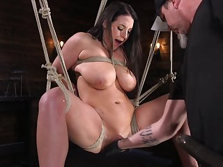 Busty buxom babe Angela White pledged and maltreated hardcore