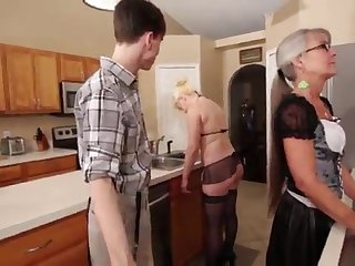 Mother and Stepsis Three-Way receipt brainwash - Leilani Lei Fifi Foxx