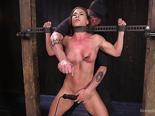 Extreme agony for Ariel X with double penetration from toys