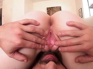 Lady around big ass Lily Rader loves fucking doggy after oral petting