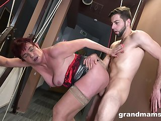 Granny gets hard fucked in crazy scenes by their way own nephew