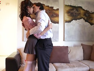 Well shaped brunette Kara Price loves sucking flannel and analfucking