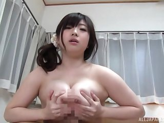 Domineer Japanese loads a lot of penis in the brush obese cunt