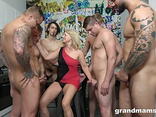 Dirty staid alight mature cowgirl is come into possession of loose and hardcore gang bang