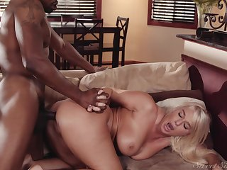 Black hunk shows married woman proper ass orgasms