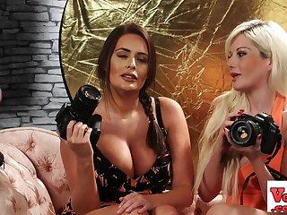 British CFNM voyeurs pellicle tugging loser