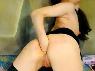 Hot Russian grown up fisting on webcam