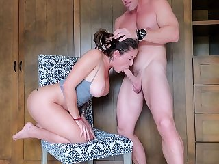 Busty Brunette Connie Denson Doggystyle Fucked