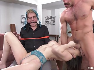 Cucked-Angelina Damanti-Sign Get under one's Trust Close by Me You Limp D