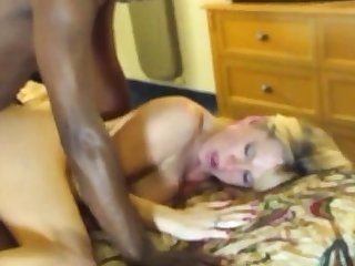 Blonde white woman with black man Hardcore Interracial