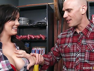Hardcore fucking on the chair with hot ass pornstar Mandy Haze