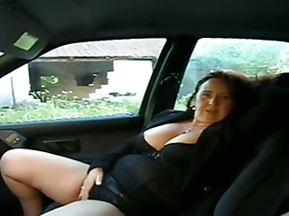 This busty mature chick wants me give play the part with her pussy in my car