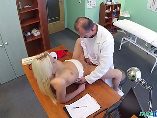 Doctor deep fucks blonde patient in intense scenes