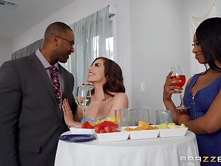 Awesome woman takes her first dose of BBC