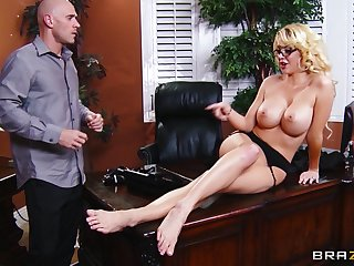 Balls deep pussy pounding in get under one's office with secretary Courtney Taylor