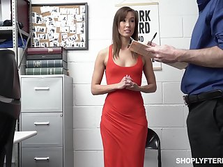 Security guy punishes top-grade tall woman Christy Love