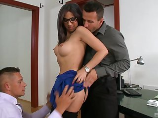 Fine moments of harsh anal at the office with the experimental secretary