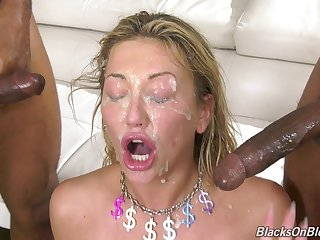 Dirty pornstar Adira Supplicate gets fucked b in the midst of black dudes